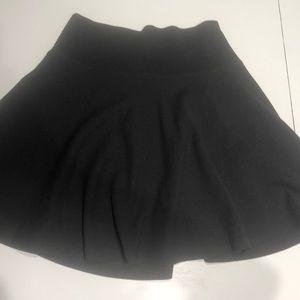Black forever 21 skater skirt